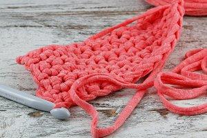 Pink crochet detail