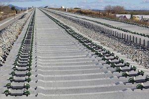 Railway on construction