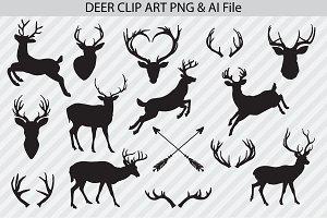 Deer Vectors & PNG Clip Art