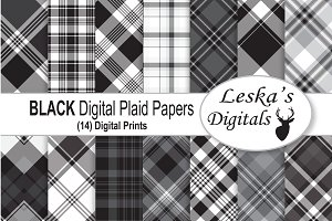 Black Plaid Digital Paper