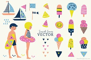 Beachside Vector Set - Illustration