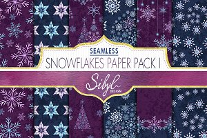 Watercolor Snowflakes Pattern I
