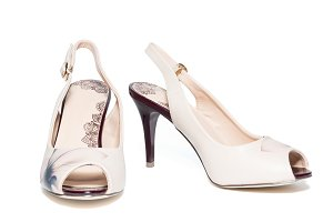female beige shoes
