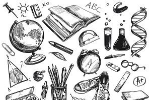 Sketch Back To School Background