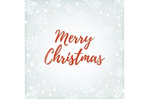 Merry Christmas abstract design on winter background.