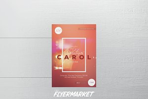 Christmas Carol PSD Flyer Template