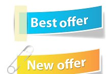 Offer Sale and Info Vector Banners