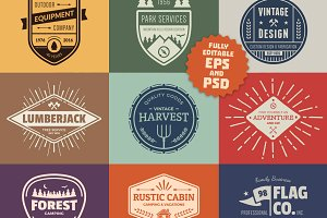 Vintage Logo Graphics & Badges