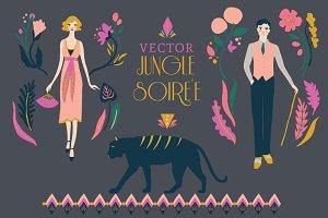 Jungle Soiree Vector Set
