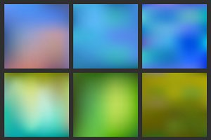 Set of Abstract blurred backgrounds