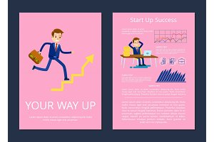 Your Way Up and Start Success Vector Illustration