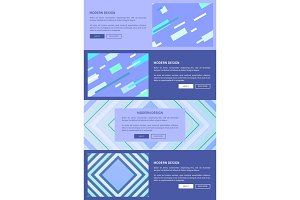 Modern Design Purple Set on Vector Illustration
