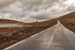 The mountain pass over Sognefjellet, Norway