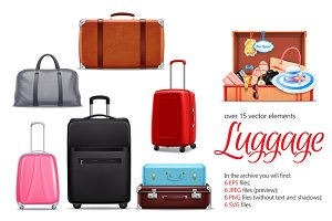 Sale! Luggage Realistic Set