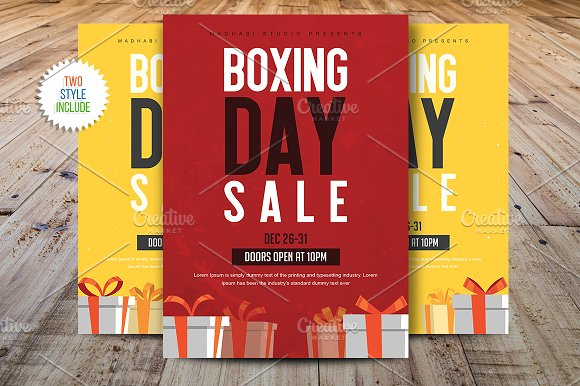 Boxing Day Sale Flyer Templ-Graphicriver中文最全的素材分享平台