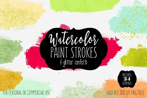 Modern Watercolor Paint Shapes