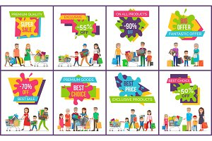 Super Sale Fantastic Offer Vector Illustration