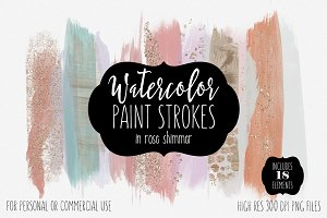 Rose Gold Shimmer Watercolor Paint