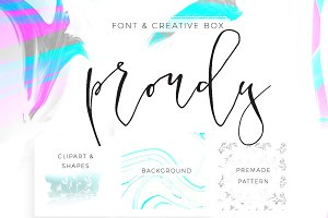 Proudy Font Creative Box and Freebie
