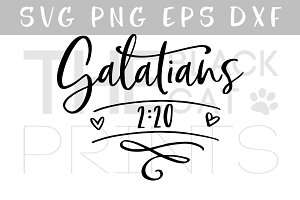 Galatians 2:20 SVG DXF PNG EPS