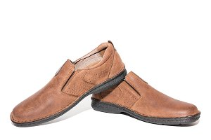 Brown men's shoes