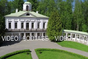 Aerial view of estate in Tsaritsyno museum. Moscow, Russia