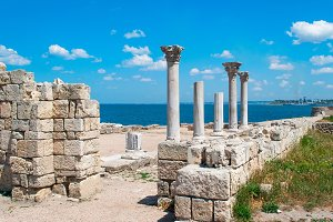 columns and ruins of Chersonesos