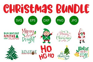Christmas SVG Bundle Cricut Cut File