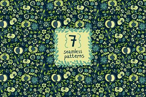7 beautiful seamless pattern