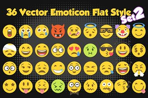 36 Vector Emojis Illustration Set 2