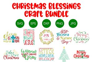 Christmas Blessings SVG Christian