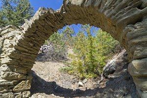 Small aqueduct in the Crimean mounta