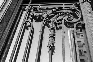 Vintage Iron Door