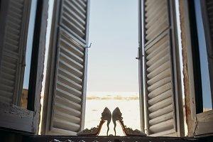 Elegant white shoes