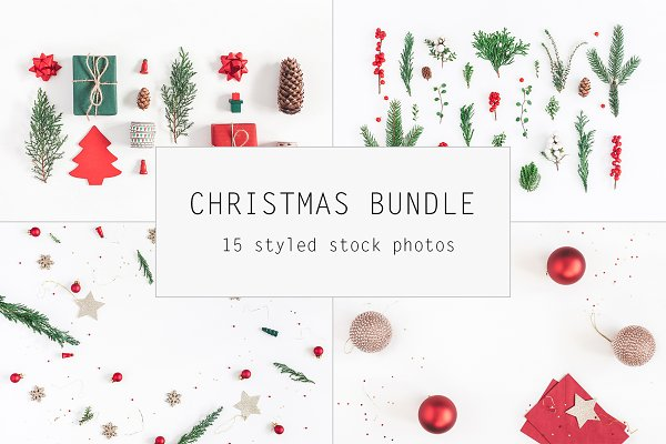 Christmas red bundle