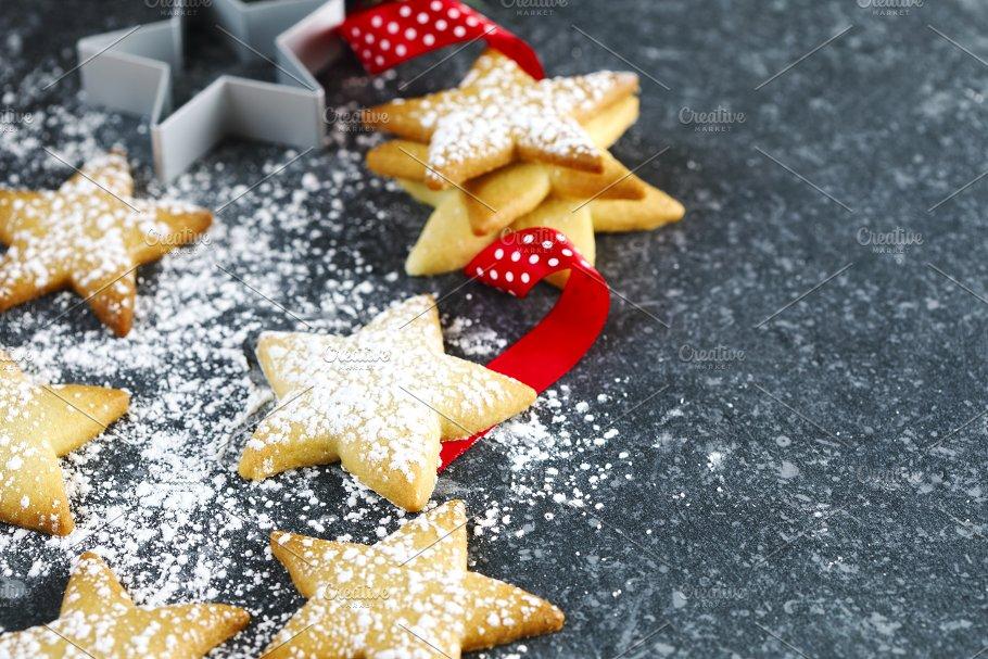 christmas star cookies food drink