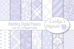Lavender Wedding Digital Paper