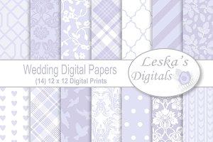Lavender Wedding Digital Paper