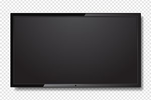 Realistic Blank Led TV Screen