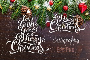 Merry Christmas Calligraphy