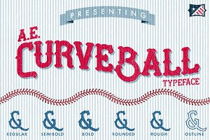 AE Curveball Vintage Typeface
