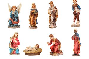 Figures for the Christmas Nativity