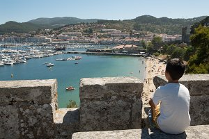 Views of Baiona from its fortress