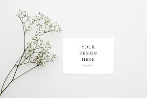 Nordic Floral Stationery Mock Up