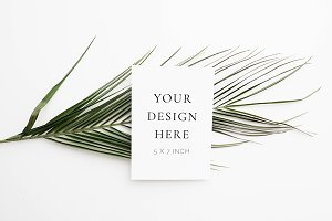 Palm Leaf Stationery Mockup