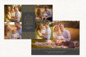 Christmas Card Merry & Bright CC135