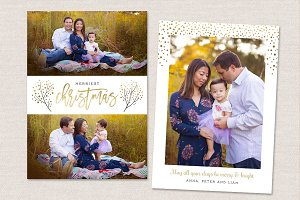 Christmas Card Template Merry CC136