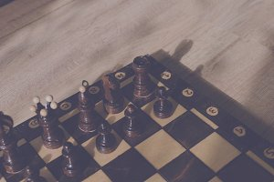 Corner chessboard