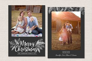 Merry Christmas Card Template CC137