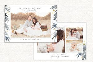 Christmas Card Template Holidays 149